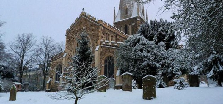 All Saints in the Snow
