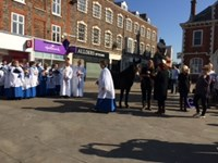 Palm Sunday 2017 at the Market Cross (1)